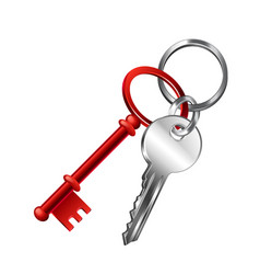 Keychain isolated on white vector