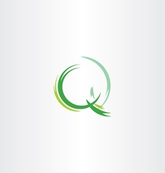 letter q icon green logotype stylized symbol vector image vector image