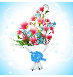 Magnolia Flower Bouquet vector image