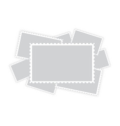 many old blank postage paper stamp frames vector image