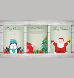 merry christmas greeting cards collection vector image