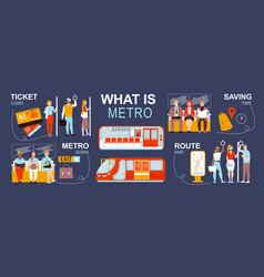Metro flat inforgraphics vector