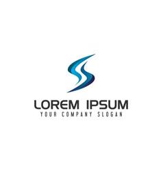 modern letter s technology logo design concept vector image