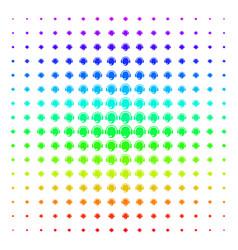 operator head shape halftone spectrum grid vector image