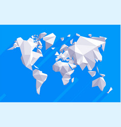 Origami world map vector
