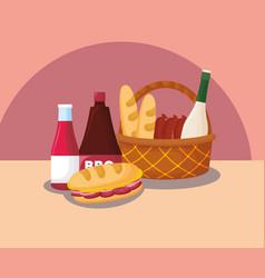 Picnic food design vector