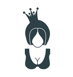 profile silhouette of a princess vector image
