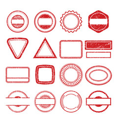 Rubber stamp frames grunge scratching post tampon vector