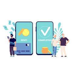 sending money son sends money elderly parents vector image
