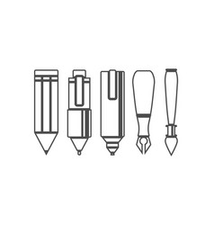 Set of drawing and writing tools vector