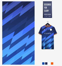 Soccer jersey pattern design thunder pattern vector