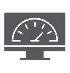 Speed optimization glyph icon traffic internet vector