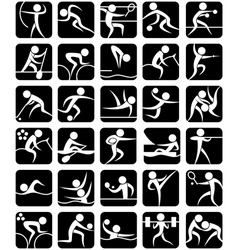 Summer Sports Symbols vector image