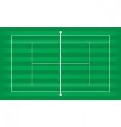 Tennis court grass vector