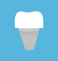 tooth dental implant prosthesis cute funny vector image