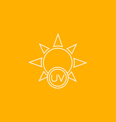 Uv rays protection icon linear vector