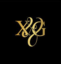 xg x g logo initial mark vector image