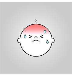 Baby sick icon vector image vector image