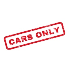 Cars only text rubber stamp vector