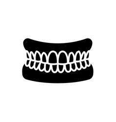 jaw with teeth - human jaw icon vector image vector image