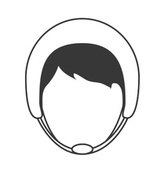 man wearing helmet icon vector image