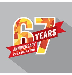 67th years anniversary celebration design vector