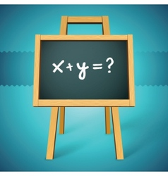 chalkboard with xy text vector image vector image