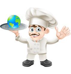 chef globe concept vector image vector image