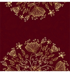 floral card red vector image vector image