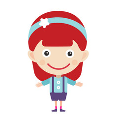 girl portrait fun happy young expression cute vector image