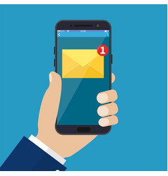 new email notification on mobile phone vector image