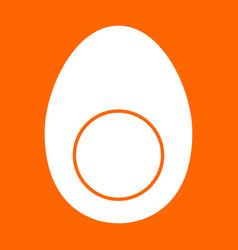 Piece egg white icon vector
