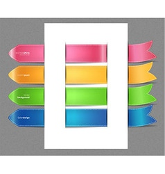 Set of color stickers vector image