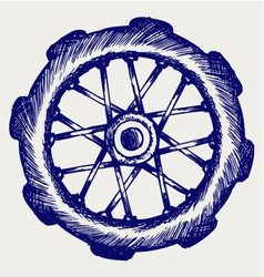 Wheel motorcycle vector image vector image