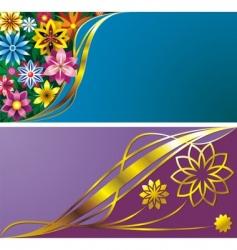 flower backgrounds vector image