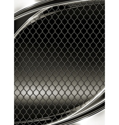 Wire mesh black background vector image
