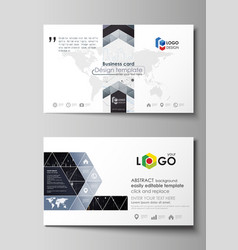 business card templates easy editable vector image