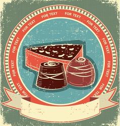 chocolate sweet label vector image