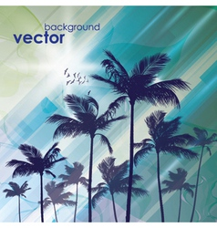 Exotic Palm Trees Background vector image