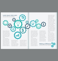 Gear Page Layout vector image vector image