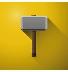 Hammer of Thor the vikings comics hammer of god vector image