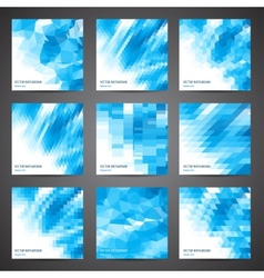 Mosaic abstract geometric backgrounds set vector image vector image