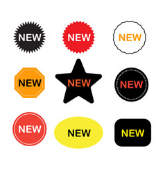 new stickers icon on white background new labels vector image vector image