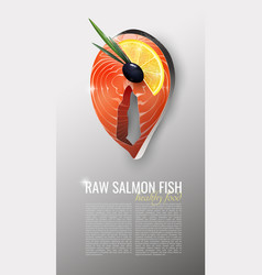 realistic seafood product template vector image
