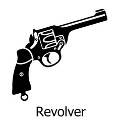 revolver icon simple black style vector image