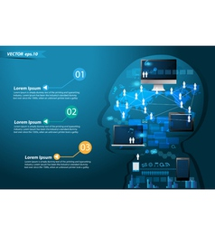 Technology business concept idea make in man vector image vector image