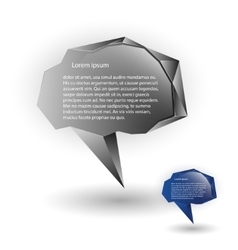 Abstract speech balloons or talk bubbles vector image