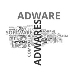 adware tale computer hijackers text word vector image