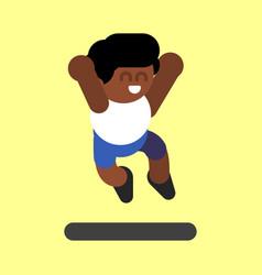 african american boy vector image