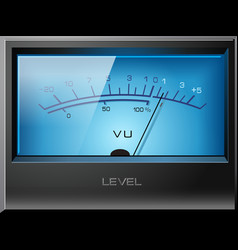 Analog vu meter blue vector